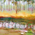 水彩画を楽しむ
